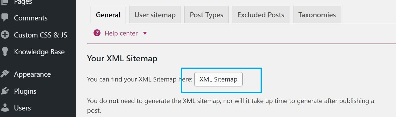 confirm sitemap file