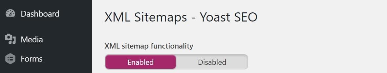 enable wordpress xml sitemap