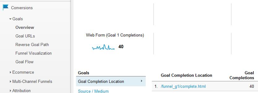google goal destination