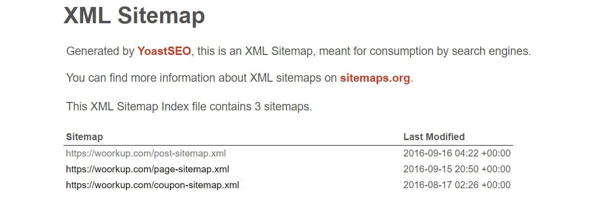 xml wordpress sitemap