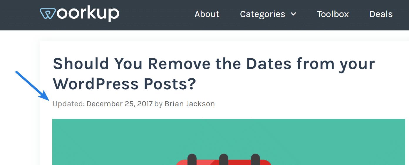 Last updated date in WordPress