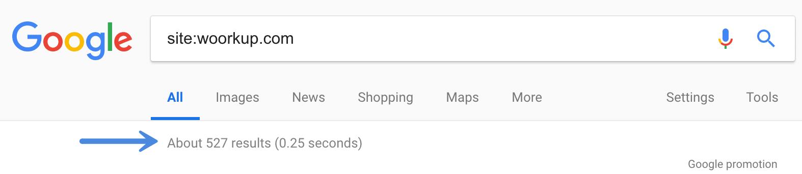 Check Google index status
