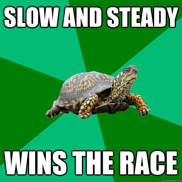 Slow and steady