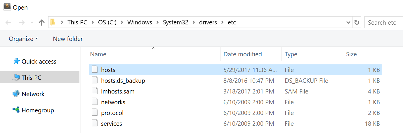 hosts file explorer