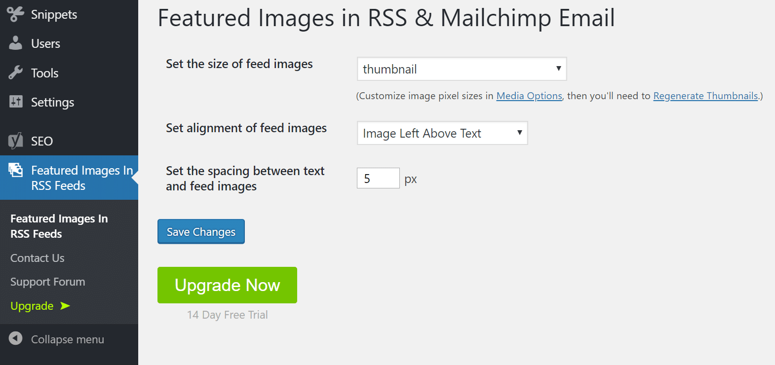 Add featured images
