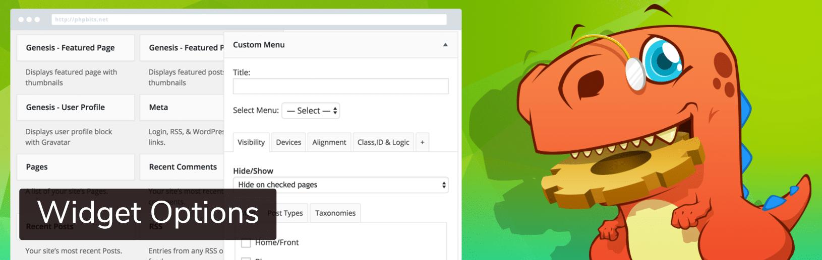 Widget Options WordPress plugin