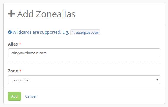 add zonealias