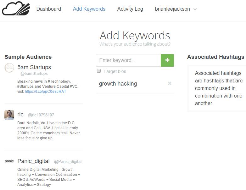 narrow add keywords