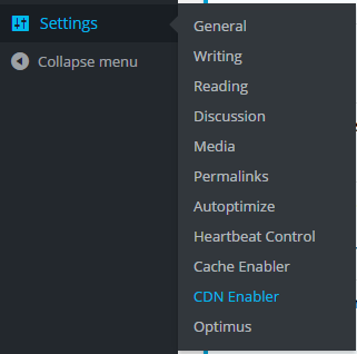 wordpress settings cdn enabler