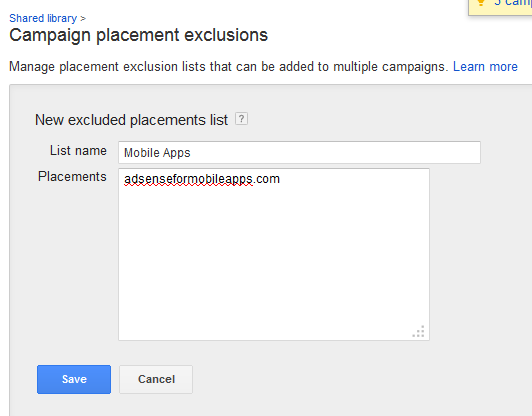 List Name - Exclusions