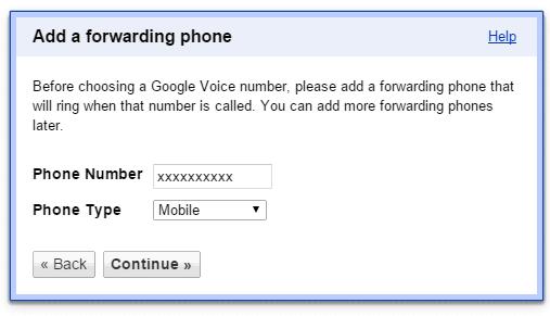 add forwarding phone