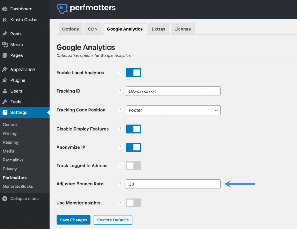 Adjusted bounce rate in Google Analytics