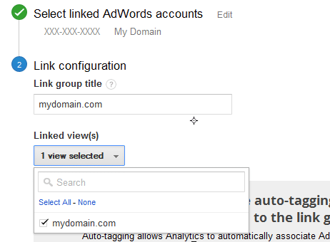 adwords linked view