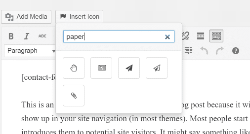 better font awesome insert icon