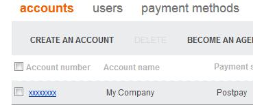 bing ads company account