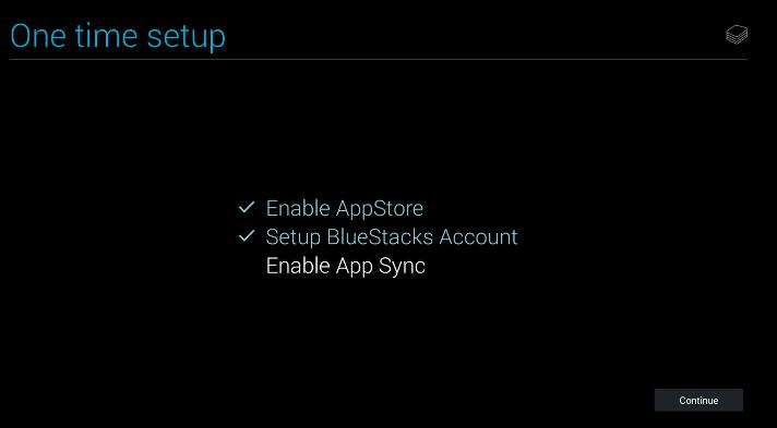 bluestacks enable app sync