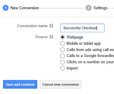 conversion successful checkout