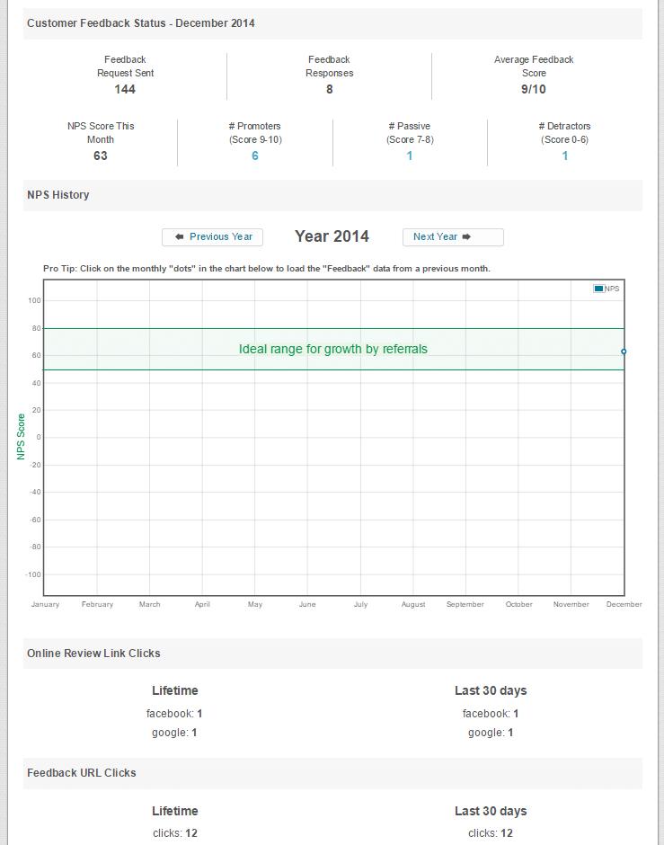 customer feedback report