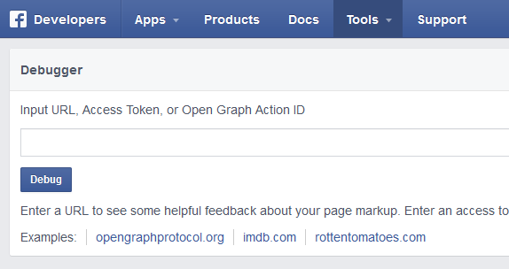 facebook open graph debugger