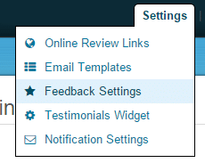 feedback settings