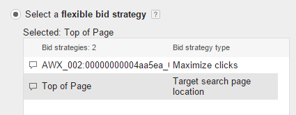 flexible bid strategies