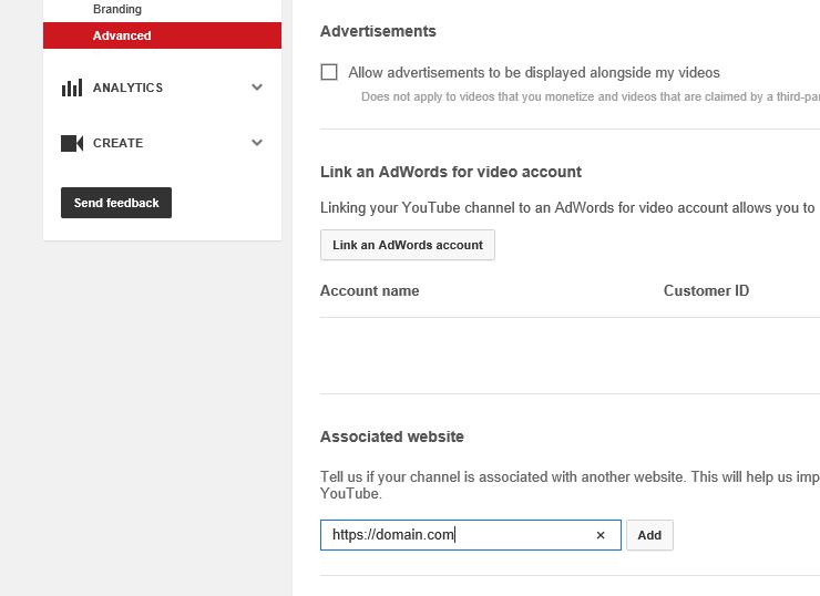 re-associate youtube channel