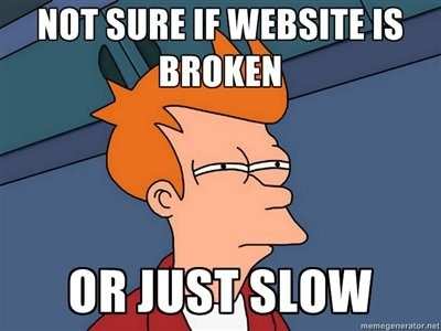 slow loading website