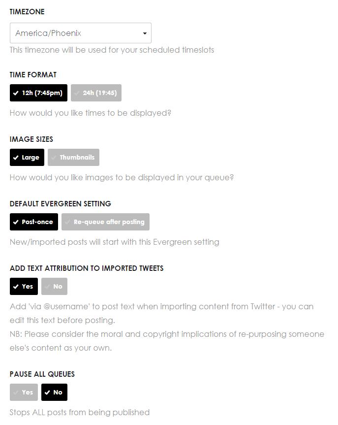smarterqueue settings
