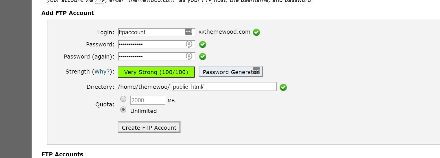 ftp account siteground