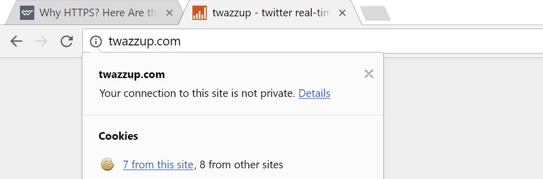 non https chrome warning