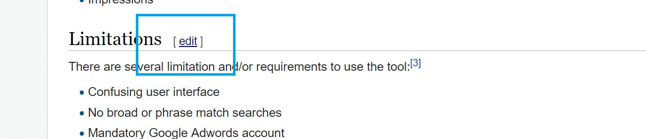 edit wikipedia page