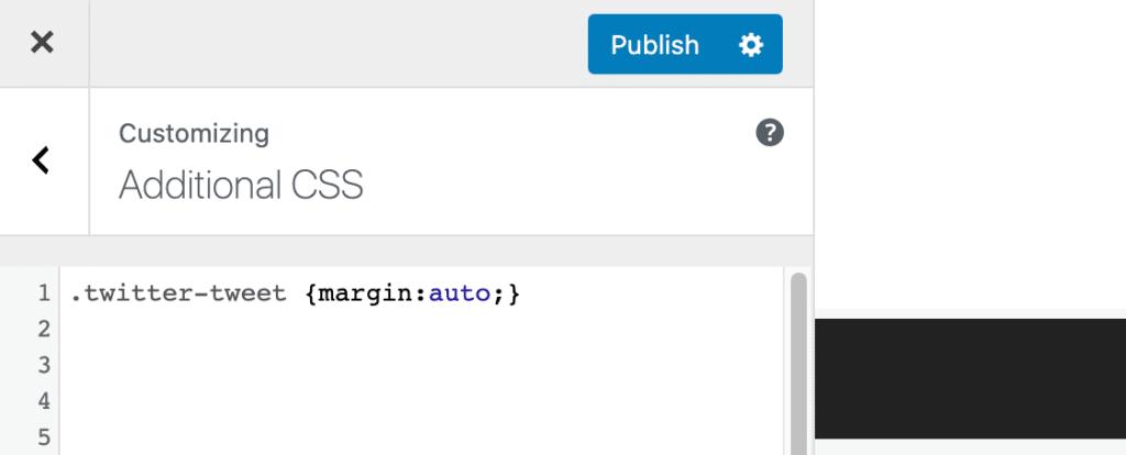 WordPress Additional CSS