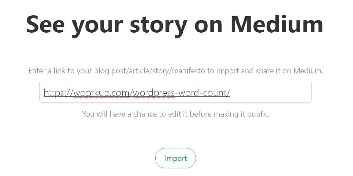 import story to medium