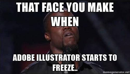Adobe Illustrator freezing