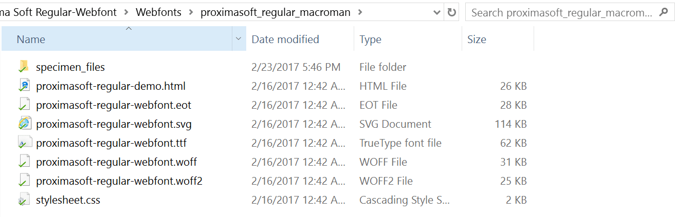 font files local