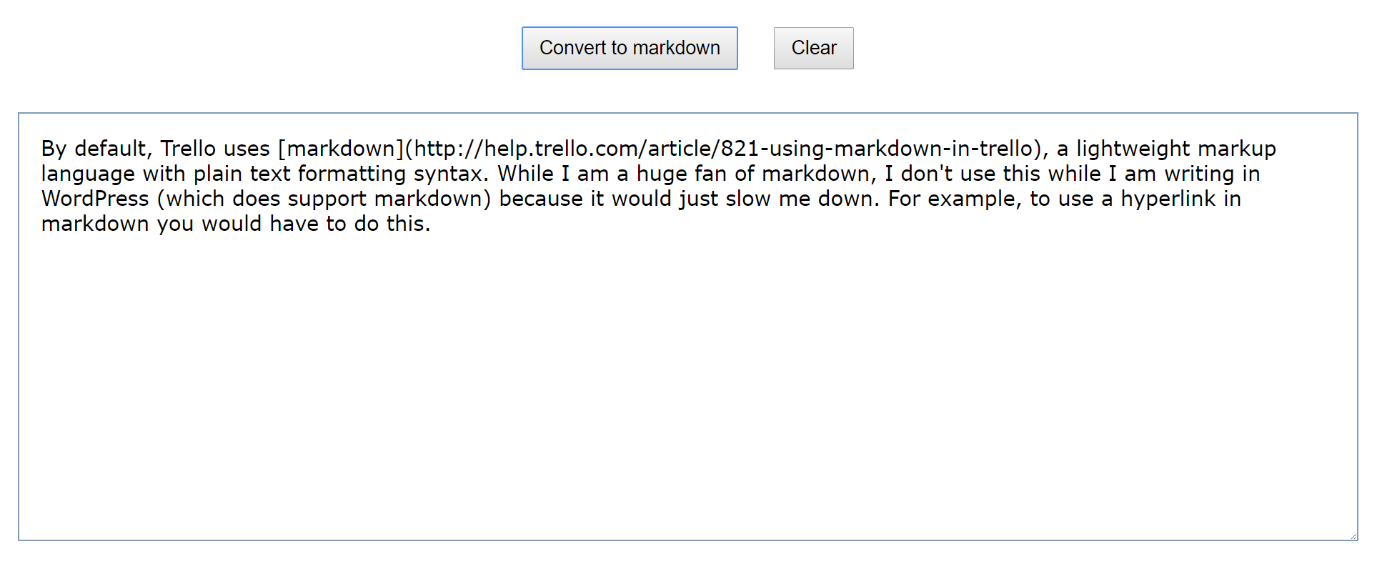 convert text to markdown