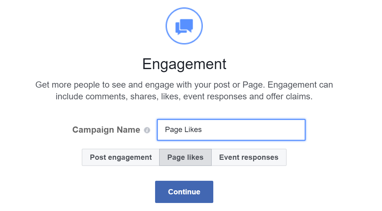 facebook page likes engagement