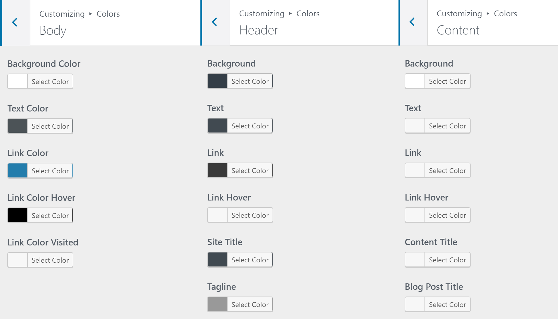 GeneratePress colors