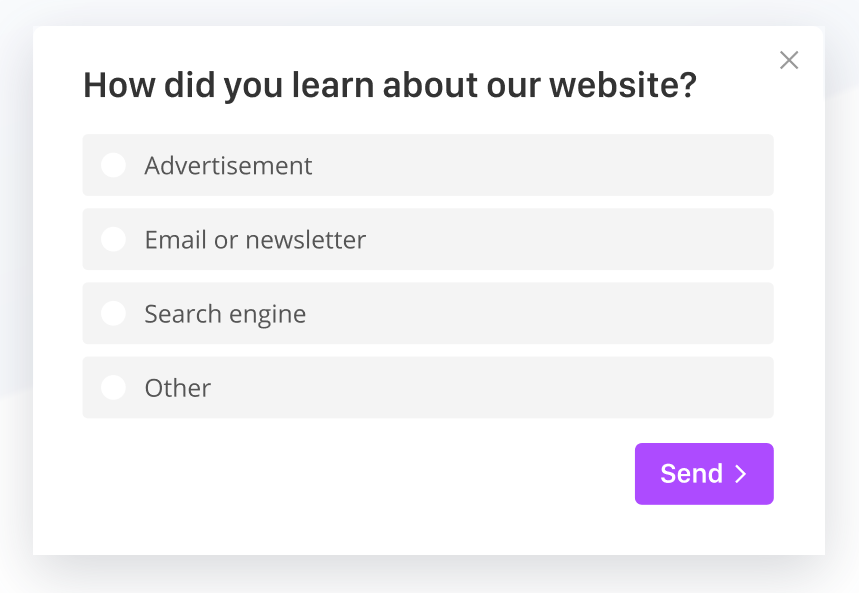 GetSiteControl survey widget