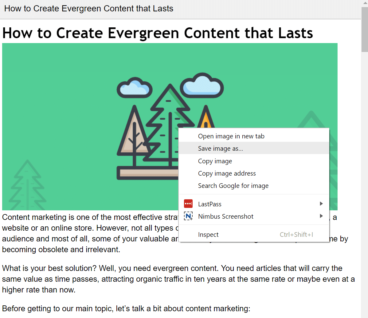 Save images from published link