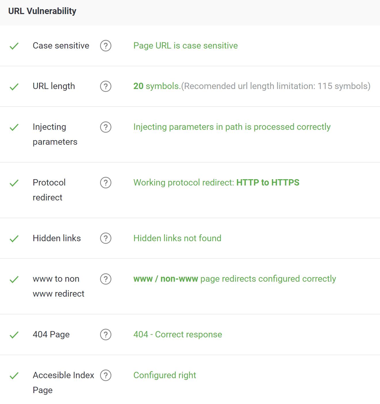 URL vulnerability