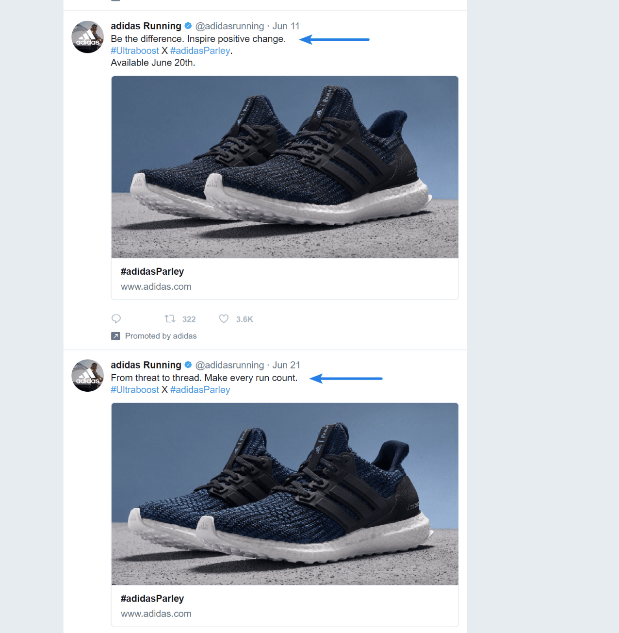 Competitor's Twitter ads