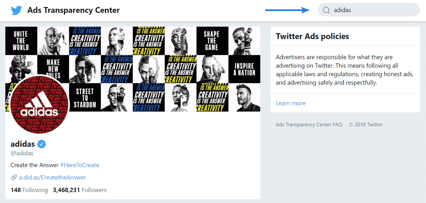 Twitter Ads transparency