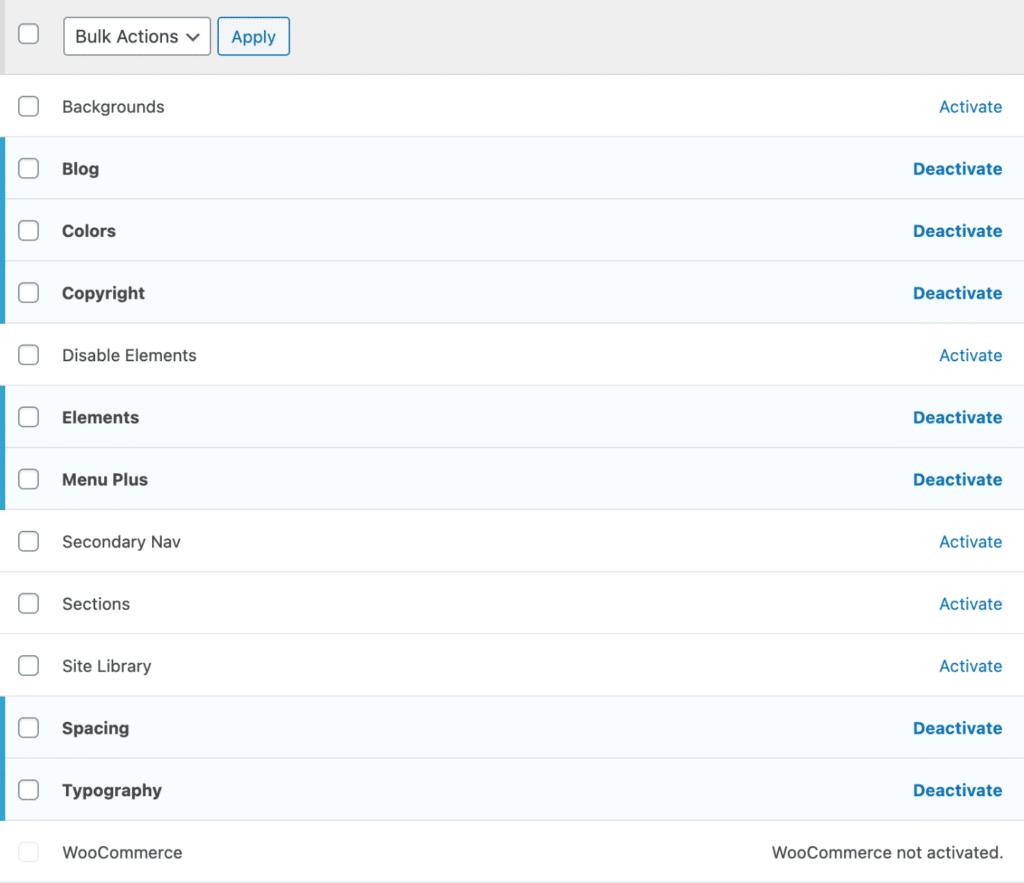 GeneratePress modules