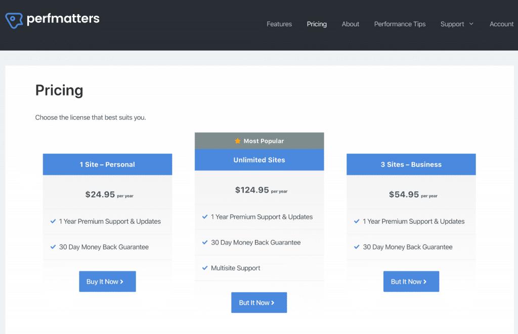 Pricing table with GenerateBlocks
