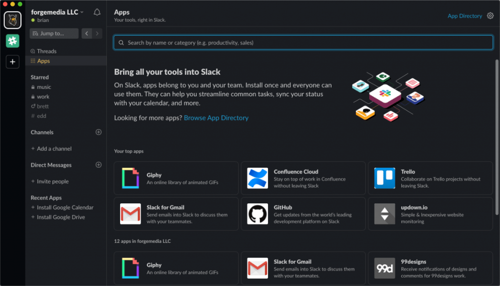 Slack Mac app