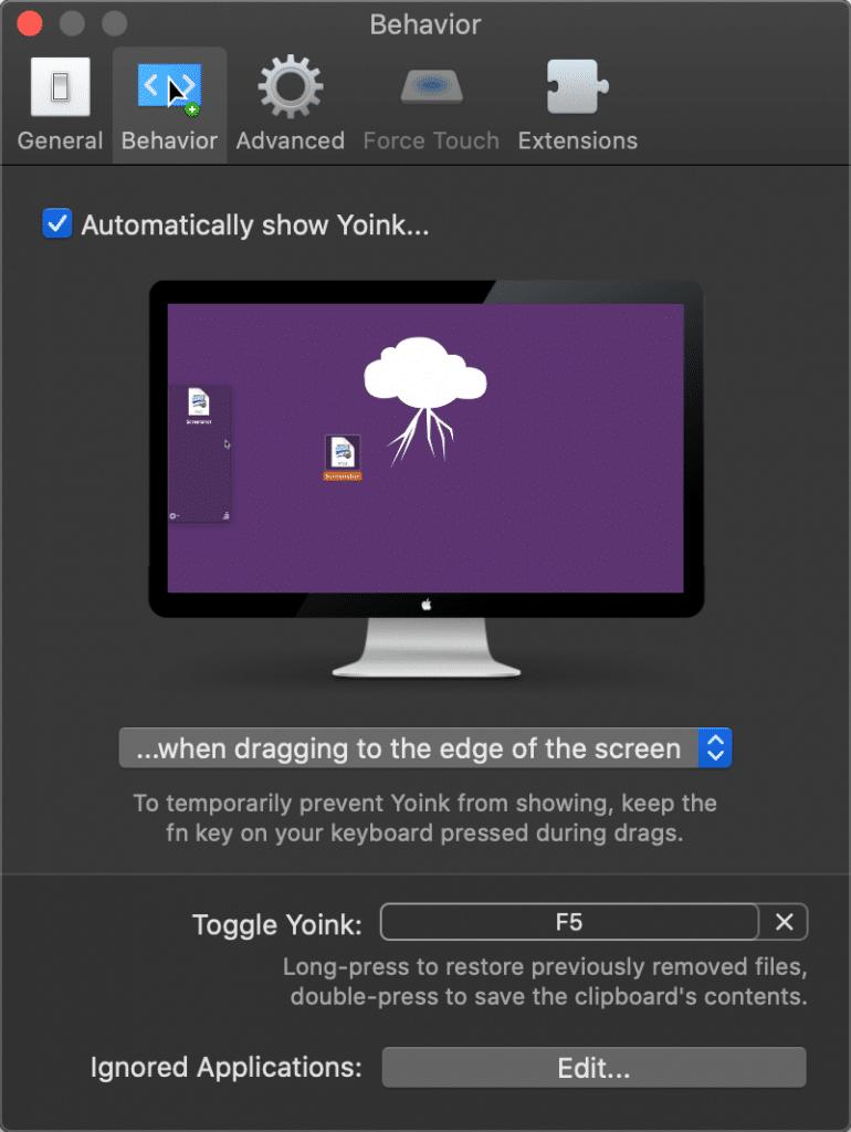 Yoink Mac app