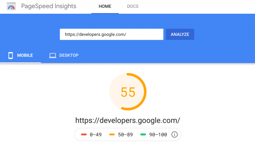 Bad mobile score on PageSpeed Insights