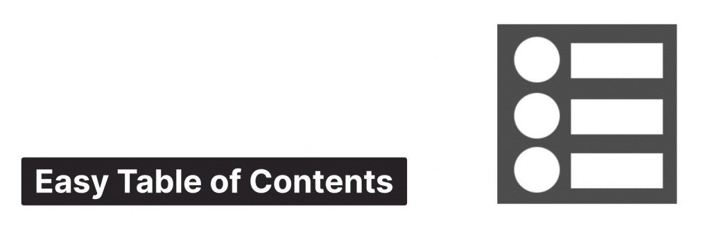Easy Table of Contents WordPress plugin