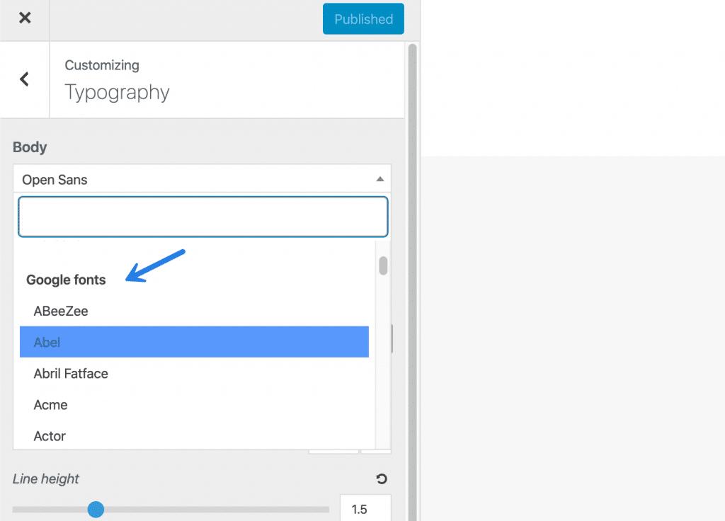 Google Fonts in GeneratePress